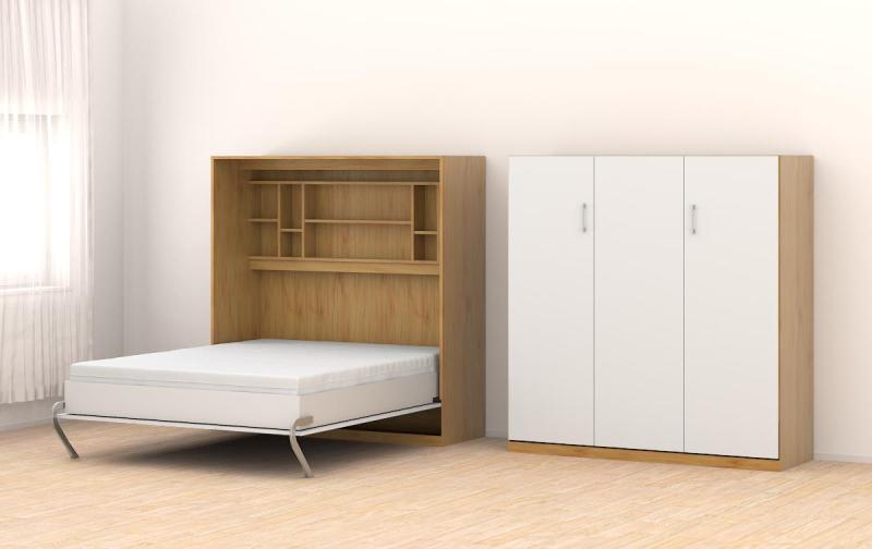 Wohnwand mit schrankbett 30 einrichtungsideen f r for Schrankbett elektrisch