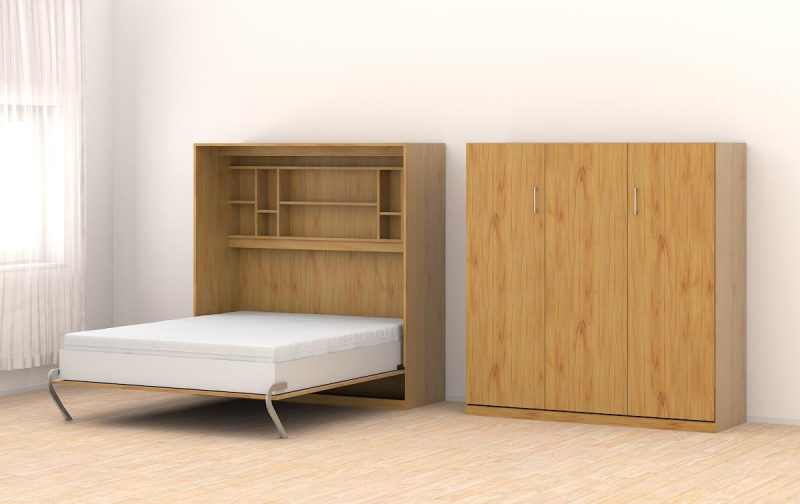schrankbett 160x205cm vertikal a566 schrankbett. Black Bedroom Furniture Sets. Home Design Ideas