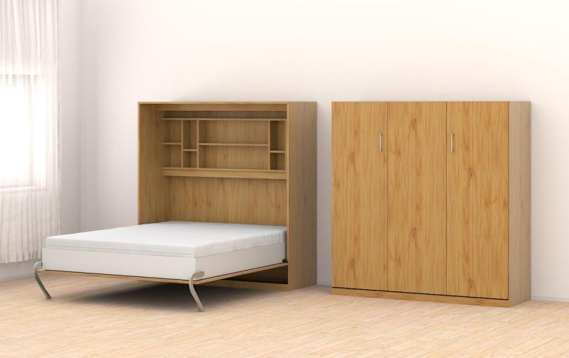 schrankbett 160x205cm vertikal a566 schrankbett. Black Bedroom Furniture Sets. Home Design Ideas