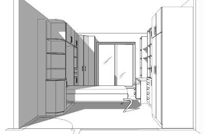 1 raum wohnung einrichten schrankbett for Raum einrichten planer