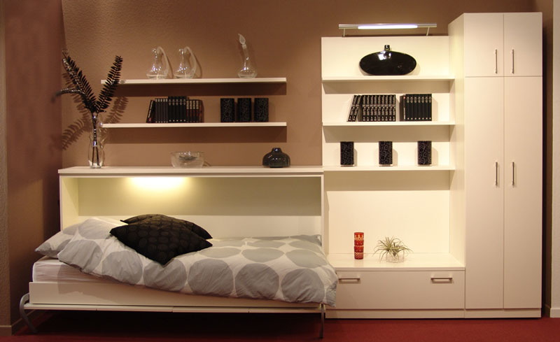 bett im schrank schrankbett. Black Bedroom Furniture Sets. Home Design Ideas