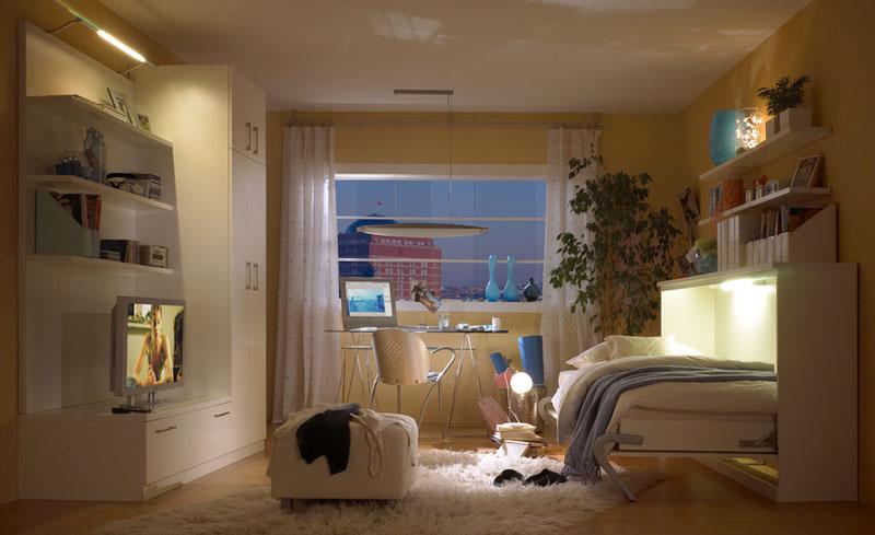 Wohnideen Kleine Räume Schlafzimmer querklappbett jetzt planen schrankbett planer de