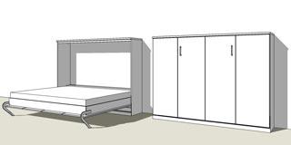 Außergewöhnliche Schrank Klappbett jetzt planen | schrankbett-planer.de GU05