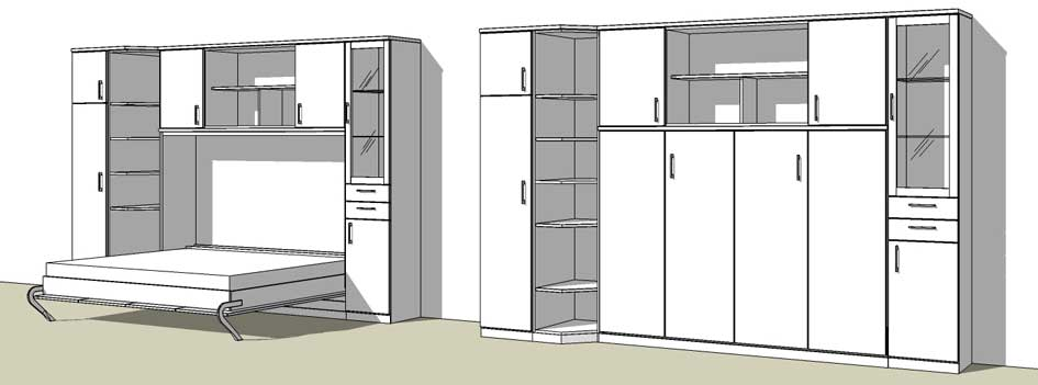 Wohnideen fürs Wohnzimmer von schrankbett-planer.de