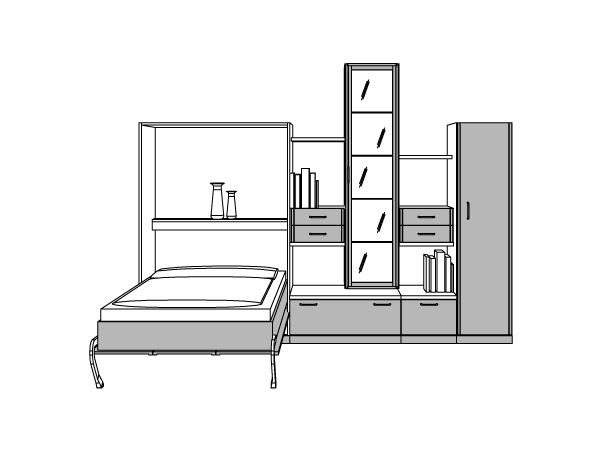 schrankwand mit klappbett wohnwand schrankwand in bonn gebraucht kaufen u2013. Black Bedroom Furniture Sets. Home Design Ideas