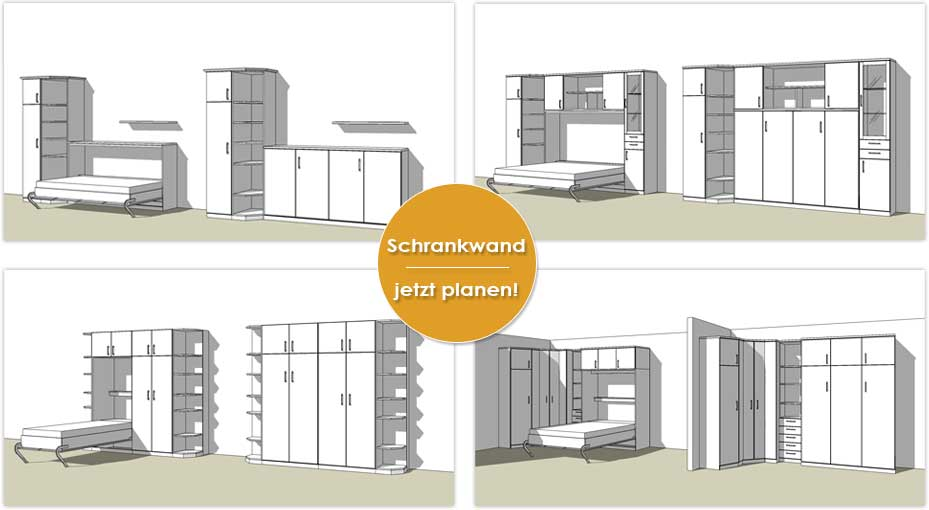schrankwand mit integriertem bett heimdesign. Black Bedroom Furniture Sets. Home Design Ideas